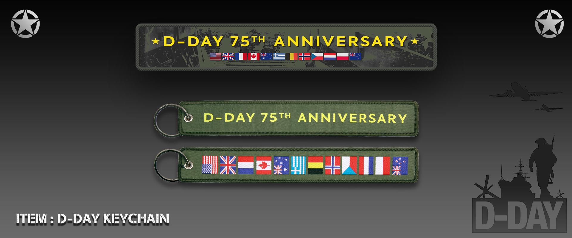 D-Day Keychain 75 Years Anniversary
