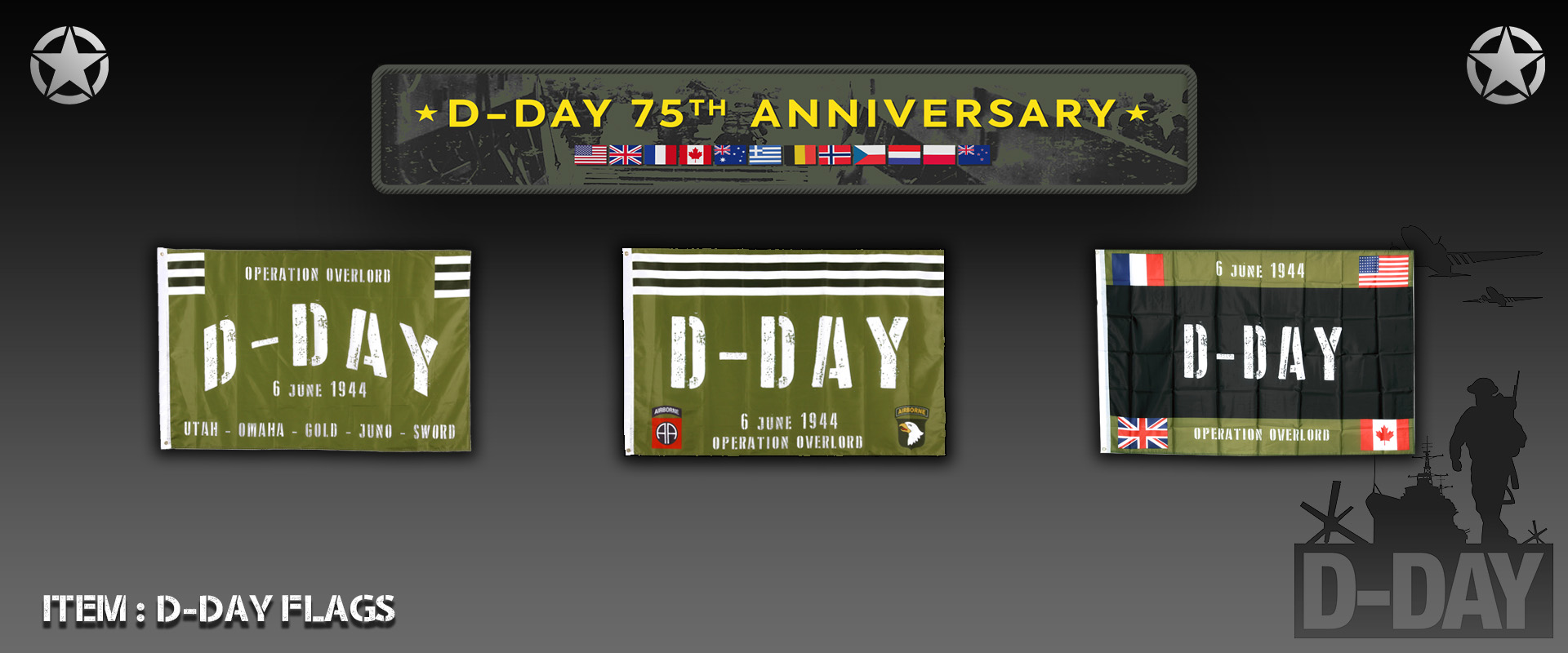 D-Day Flags
