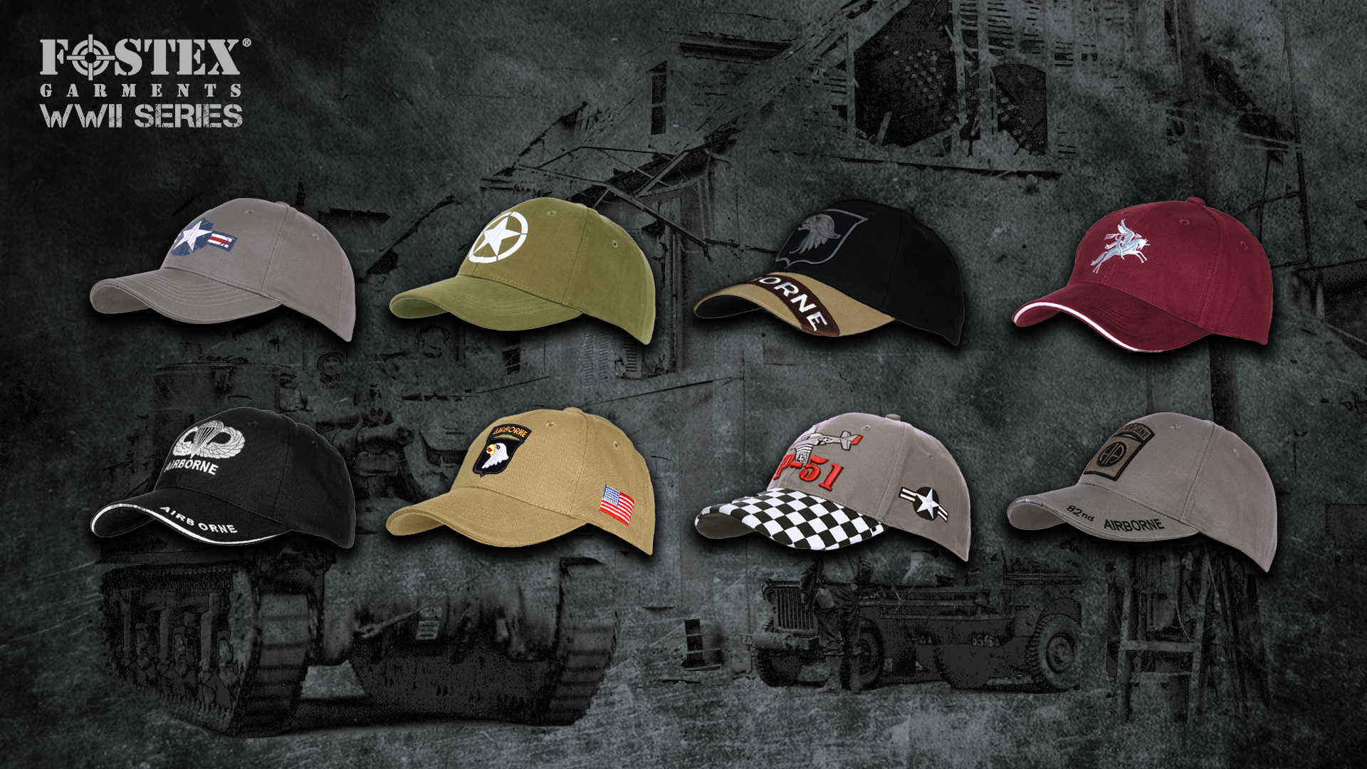 WWII Series - Baseball Caps